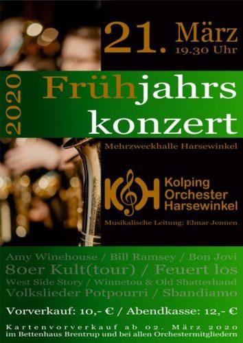 Frühjahrskonzert Kolpingorchester Harsewinkel e.V. @ Mehrzweckhalle Harsewinkel